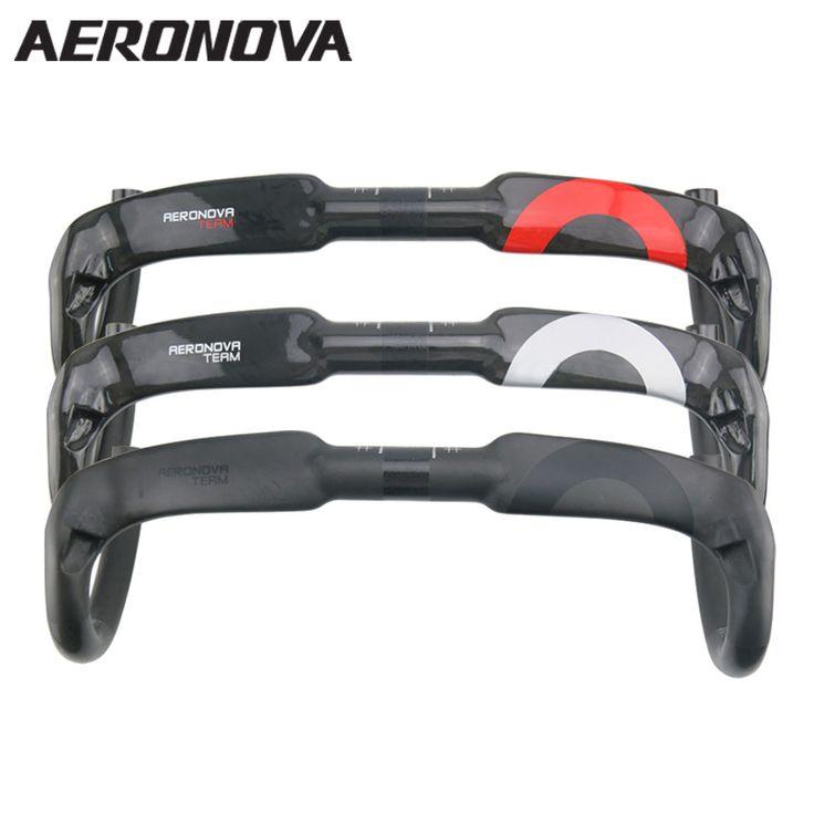 Aeronovaバイクudカーボンロードハンドルバー自転車内部巻線ハンドル31.8ミリメートルレッド/ブラック/シルバーカーボンハンドル