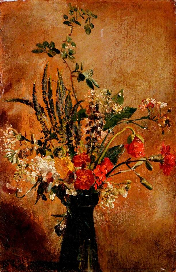 Study of Flowers in a Hyacinth Glass (John Constable)