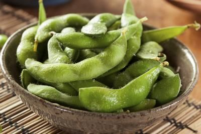 The Nutritional Value of Edamame Beans  one of my favorite snacks and come in steamable bags from the HEB! Ready in 6 minutes/