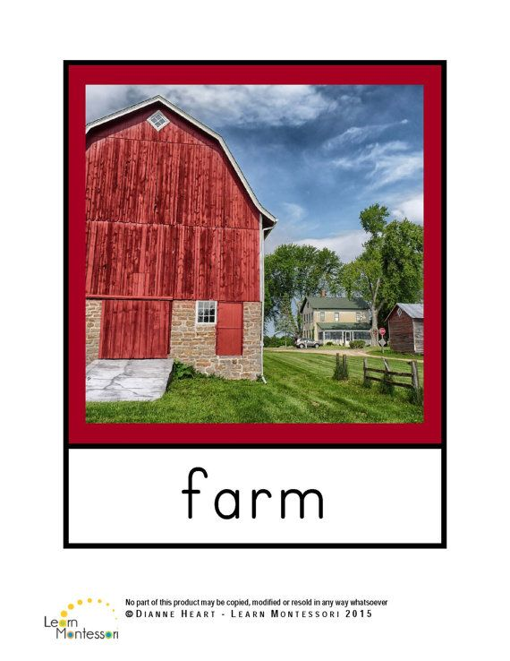 Montessori Curriculum  Language: Farm animals by LearnMontessori