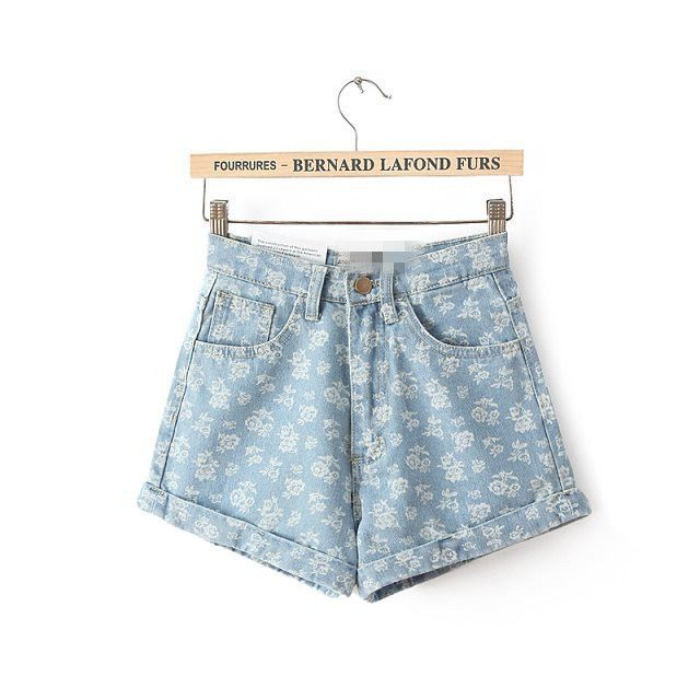 Item Type: Shorts Gender: Women Decoration: Pockets,Button Fit Type: Regular Pattern Type: Floral Waist Type: High Material Composition: Denim Spandex Pant Style: Harem Pants Style: Fashion Closure Ty