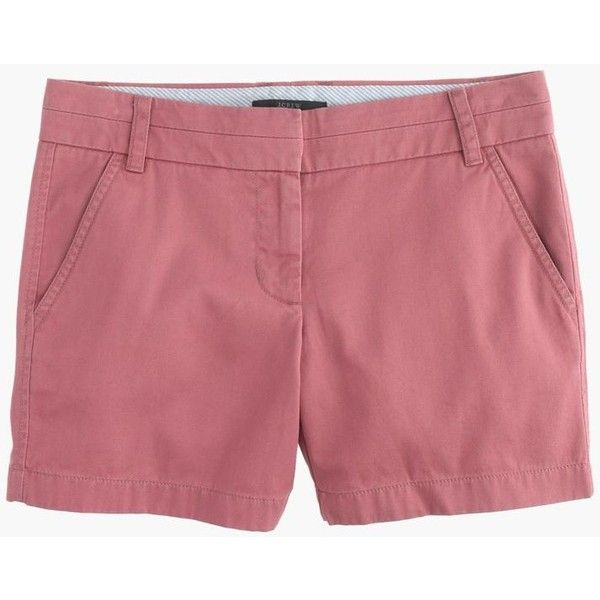 """J.Crew 5"""" chino short ($20) ❤ liked on Polyvore featuring shorts, zipper shorts, j. crew shorts, long shorts, chino shorts and j.crew"""