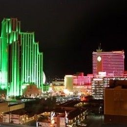 Downtown Reno Nevada featuring several casinos