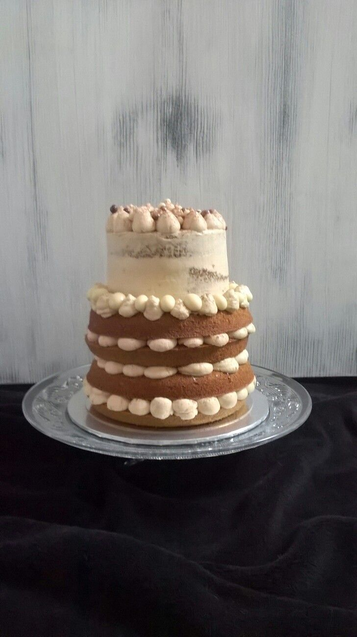 Cream and coffee layer cake
