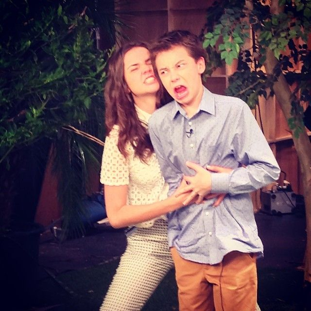 Hayden and Maia being silly! | The Fosters