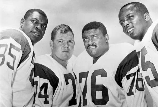 Fearsome Foursome -  Lamar Lundy, Merlin Olsen, Rosey Grier and  David Deacon Jones