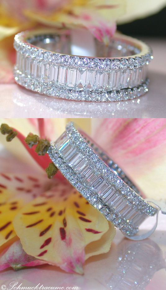 Pure Luxury: Diamond Eternity Ring, 2,61 cts. G-SI/VSI, WG18K - Visit: schmucktraeume.com - Like: https://www.facebook.com/pages/Noble-Juwelen/150871984924926 - Mail: info@schmucktraeume.com