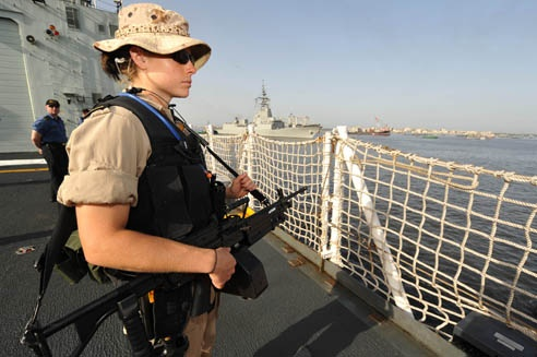 Just another day in the office for one of our Sailors in the Persian Gulf.