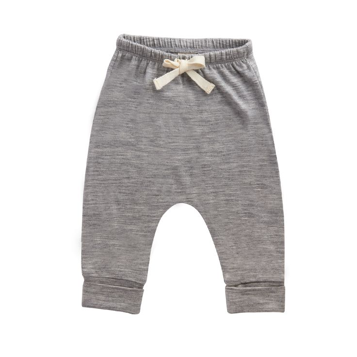 Grey merino drawstring pants