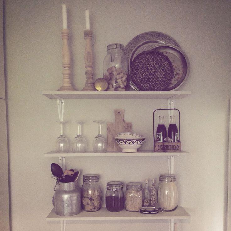 #compactliving #kitchen #shelves #diy
