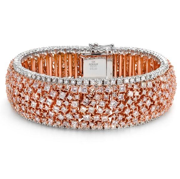 Almor Designs fancy pink and white diamond bracelet