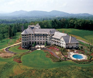 "Inn on Biltmore Estate (Asheville, NC). ""A 210-room mansion set on George Vanderbilt's 8,000-acre Biltmore estate, surrounded by the Blue Ridge Mountains."""