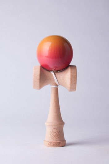 "Sweets X Sourmash ""Sweet and Sour"" Series, Sweets Kendama Ken with a Sourmash painted Tama"