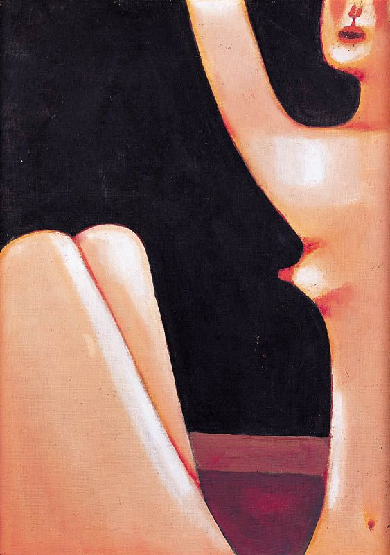 Jerzy Nowosielski | Nude, 1975 | oil on canvas
