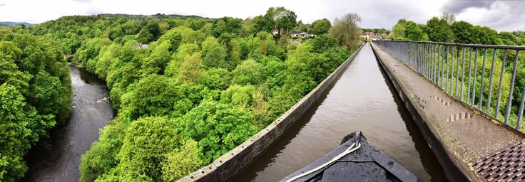 Pontcysyllte Aqueduct....don't look down!! Visit Llangollen town on a week's holiday from Wrenbury Marina with ABC Boat Hire. For more information visit www.abcboathire.com