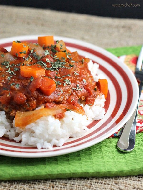 This Easy Swiss Steak is a low-fat dinner loaded with tomato flavor.