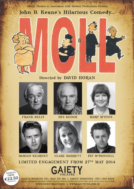 """We have two tickets to give away to two lucky winners for Moll on June 2nd at the Gaiety Theatre, Dublin. To be in with a chance of winning, just email your name and address to nomoreworkhorse@gmail.com and tell us Frank Kelly's character name on Father Ted (hint: look below). Make sure you put Moll …"