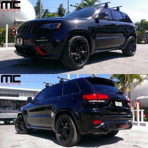 Blacked out Jeep Cherokee SRT8 … @im2fast clean job on this one .!!! #jeep #cherokee #srt8 #mc #mccustoms #mccustomsmiami #mia #miami #305
