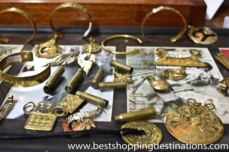Jelweries and Accessories made of bullet (landmines) shells http://bestshoppingdestinations.com/buy-siem-reap/