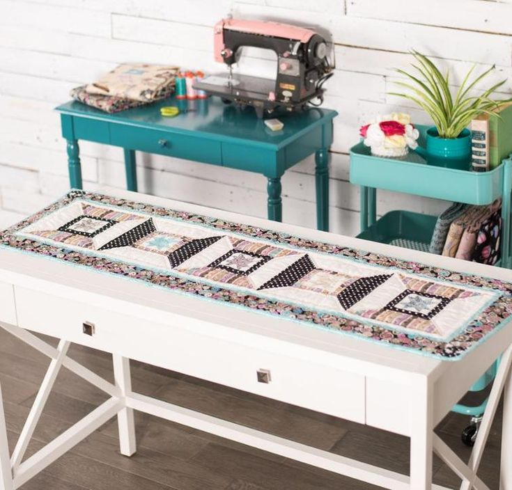 Spool Time Table Runner Kit by Corey Yoder featuring RJR Sew IN Love by Dan Morris Fabric | Craftsy