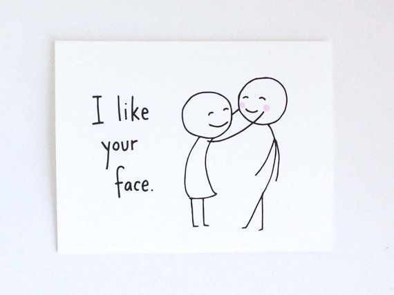 Cute Love Card for Boyfriend // Birthday Card for Husband // Romantic Birthday Card // Funny Valentine's Day Card // I Like Your Face