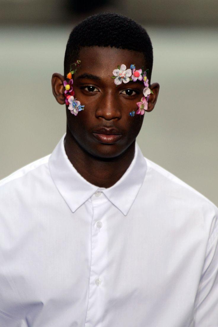 flowers + male model