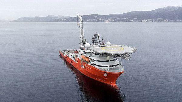 El Seabed Constructor, barco noruego rentado por los cazadores de tesoro británicos
