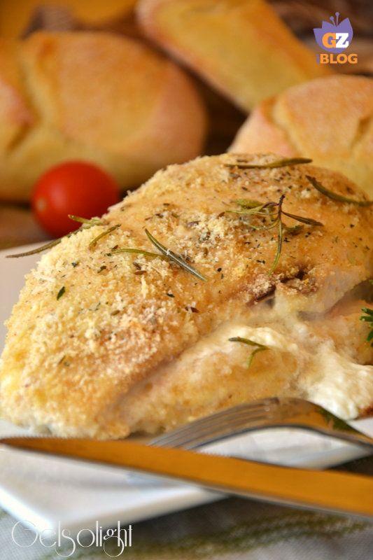 Tasche di pollo ripiene di formaggio cremoso