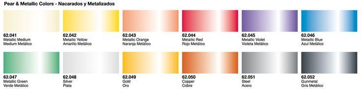 Oferta en pintura al agua Vallejo Premium para aerógrafo. Colores Metálicos. 5ª unidad a mitad de precio.