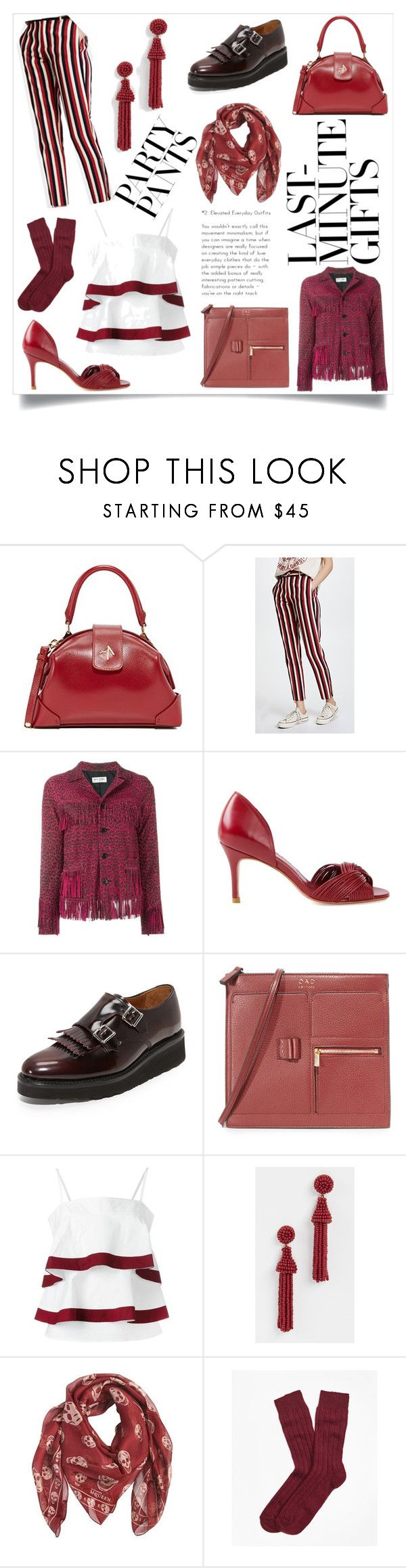 """""""Modern and beautiful"""" by emmamegan-5678 ❤ liked on Polyvore featuring MANU Atelier, Maggie Marilyn, Yves Saint Laurent, Sarah Chofakian, Grenson, OAD New York, Tory Burch, Deepa Gurnani, Alexander McQueen and Brooks Brothers"""