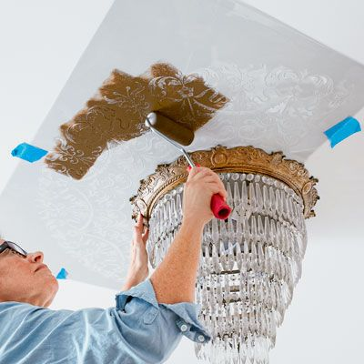 How to Stencil a Ceiling Medallion