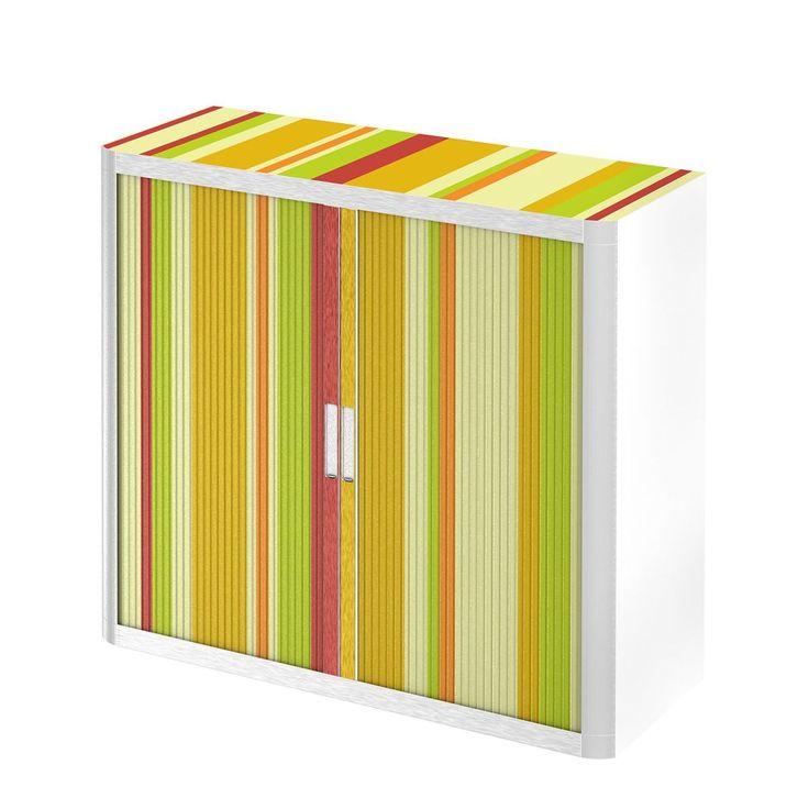Rollladenschrank easyOffice Rayures - Gelb / Orange - 104 cm, easy Office und Paperflow Jetzt bestellen unter: https://moebel.ladendirekt.de/wohnzimmer/schraenke/weitere-schraenke/?uid=a0fc58f8-cacd-5bb4-bb81-f5e33675714b&utm_source=pinterest&utm_medium=pin&utm_campaign=boards #möbel #schraenke #paperflow #büro #wohnzimmer #office #büroschränke #weitereschraenke #easy