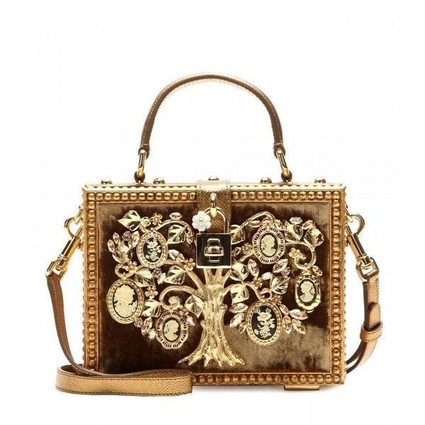 Dolce & Gabbana Dolce Embellished Shoulder Bag ($6,870) ❤ liked on Polyvore featuring bags, handbags, shoulder bags, purses, bolsas, clutches, gold, dolce gabbana shoulder bags, gold purse and embellished handbags