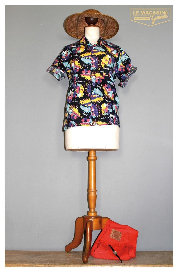 Le Magasin Général , hawaian shirt, vintage, omega seamster