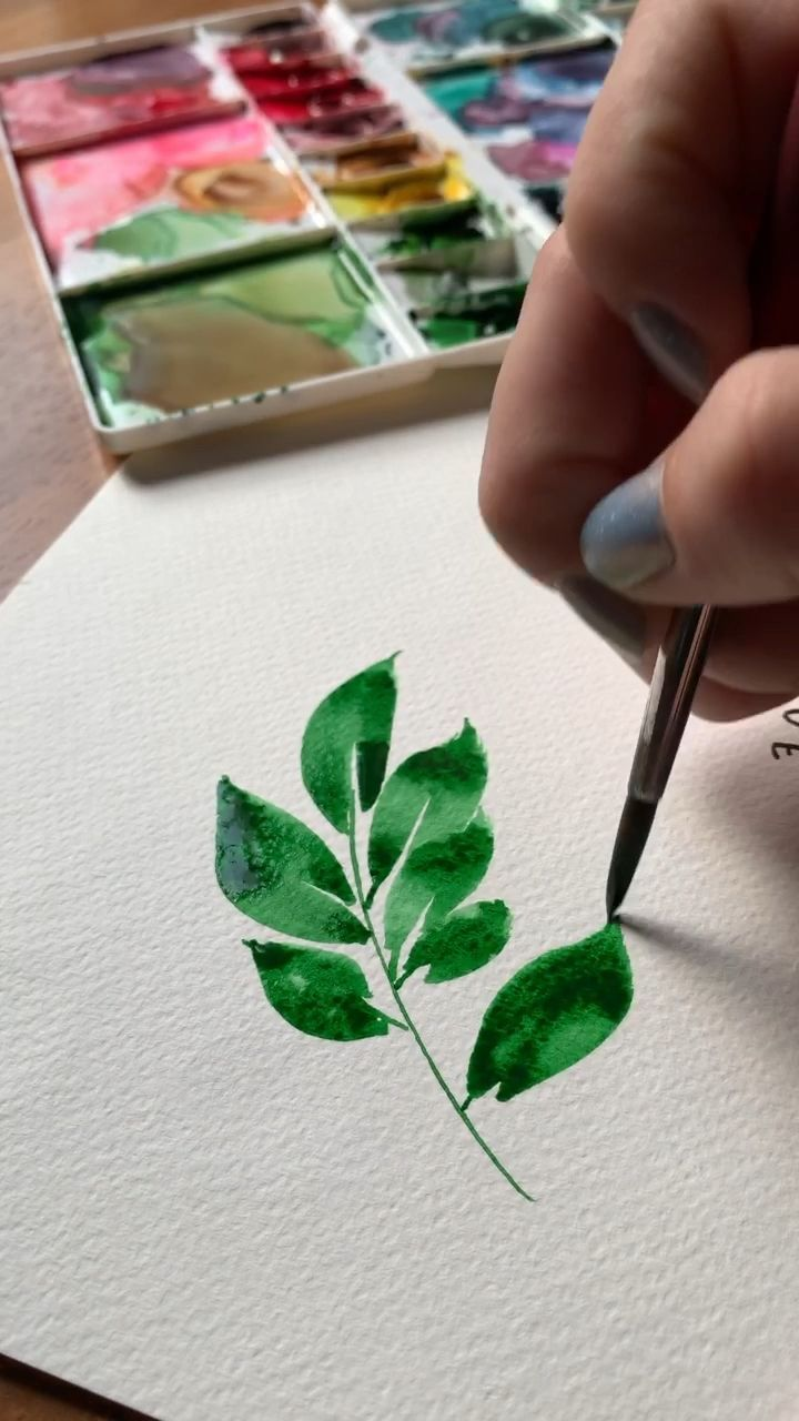 I Love Warming Up By Painting Gorgeous Watercolor Leaves Learn