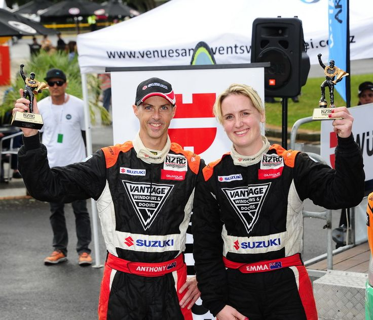 International Rally of Whangarei 2016. Emma Gilmour & co-driver Anthony McLoughlin. 2nd overall in the Vantage Windows & Doors Suzuki Swift Maxi. Photo: Geoff Ridder
