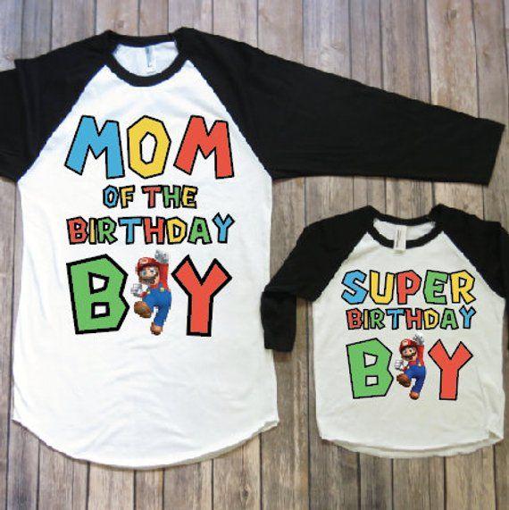 Mama Und Mich Geburtstag Shirts Mario Geburtstag Shirt Super