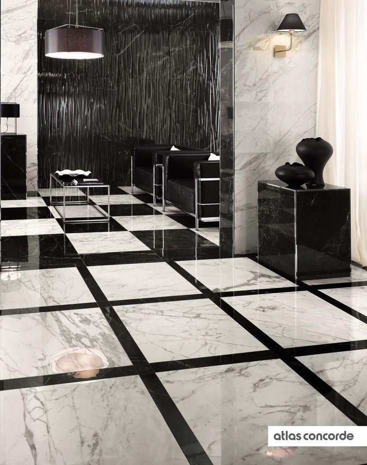 #MARVELPRO statuario select & noir st laurent | #AtlasConcorde | #Tiles | #Ceramic | #PorcelainTiles