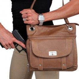 All Leather, Locking Concealment Purse