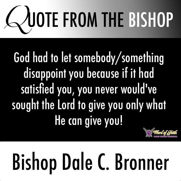 Word Of Faith Bishop Dale Bronner