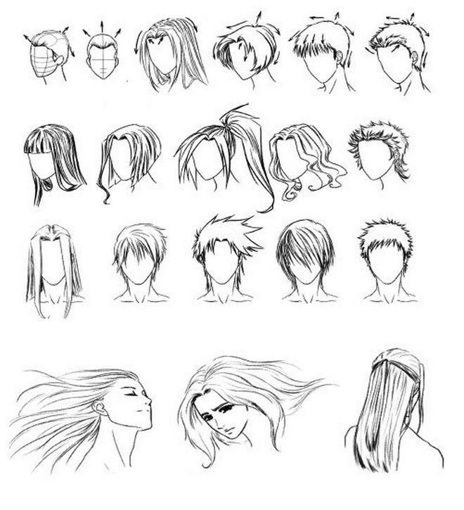 рисование волос - Поиск в Google