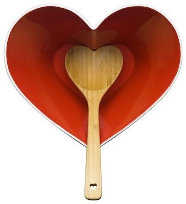 Sagaform Heart Bowl with Ladle eclectic kitchen tools