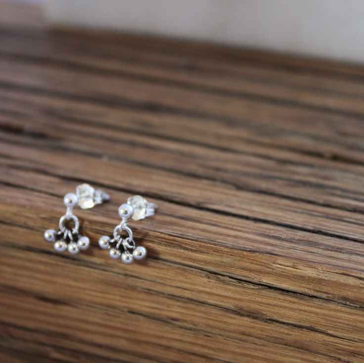 Eos Earrings in solid sterling silver. Handmade at www.empireandolive.com.au