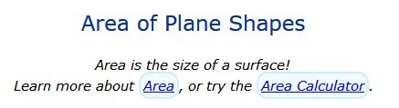 Area of Plane Shapes.  Maths is Fun!