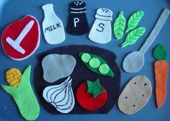 STONE SOUP Children's Flannel Board Felt Set by FunFeltStories, $12.00