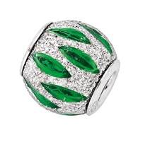 Amore & Baci 6D011 sparkling silver and enamel bead