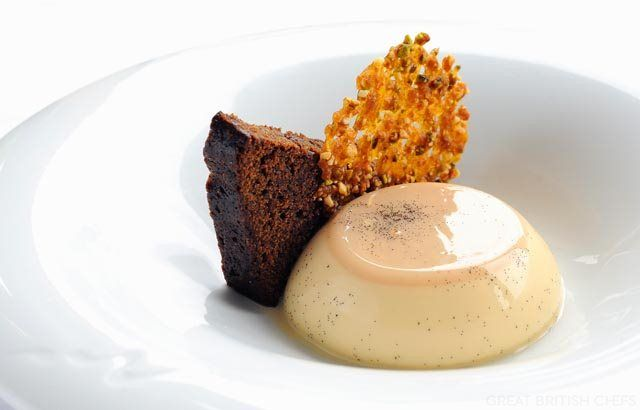 This panna cotta recipe by Josh Eggleton from the multi-award winning Pony Trap is a little different with its caramel flavoured and served with gingerbread