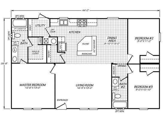 Sandalwood Ltd 28443d Fleetwood Homes Mobile Home Floor