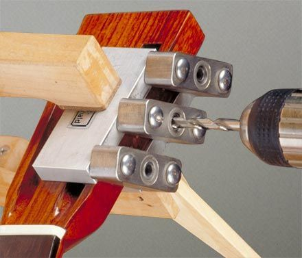 Tuning Machine Drill Jig for Slotted Pegheads