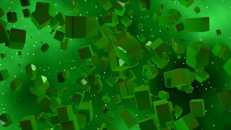 Motion Graphics - Green Cubes ( Free to use )